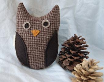 Plush OWL toy - Oliver - children gift woodland - stocking stuffer
