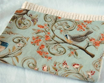 Burp Cloths - Birds in the branches (set of 2)