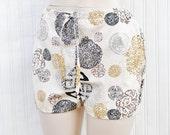 Bloomer Babydoll Night Sleep Pants Pajama Bottoms - Zen Asian Print