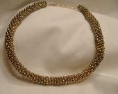 Vintage Gold Bead Choker