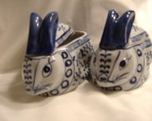 Vintage Chinese Blue and White Pottery