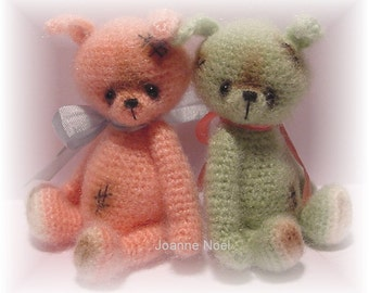 Crochet Pattern for Hopp a Thread Artist Teddy Bear  by Joanne Noel of  Bayou Bears