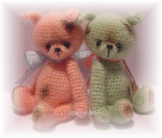 Crochet Pattern for Hopp a Thread Artist Teddy Bear  by Joanne Noel of  Bayou Bears