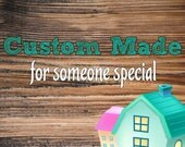 Reserved for Sherry-Birdhouse Made to Match Home