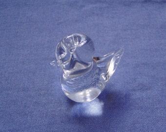 Vintage Kost Boda 70's Hand blown Glass Bird figurine