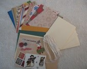 Do It Yourself Card Kit- Christmas Cream\/Dark Green Theme