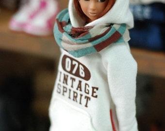 Momoko Vintage spirit Hooded T-Ivory