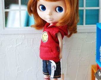 Blythe Lovely Hooded-T Red