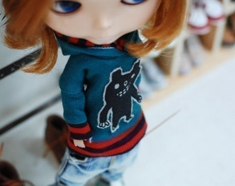 Blythe Monster Hooded-T