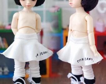 Cutty Skirt Leggins- White