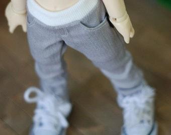 Neat skinny Pants- Silver Gray
