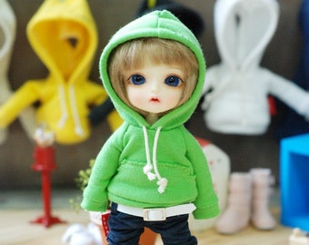 Lati yellow .Pukifee   Vintage Hooded T -Yellow Green