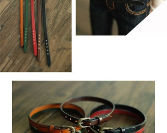 SD size Genuine leather belt.