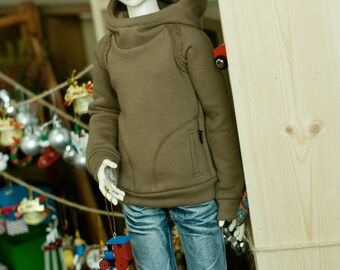 SD 13 Chic hooded-T Brown