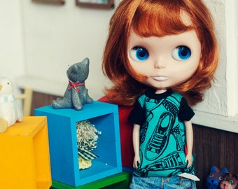 Blythe Sneakers T shirts- green
