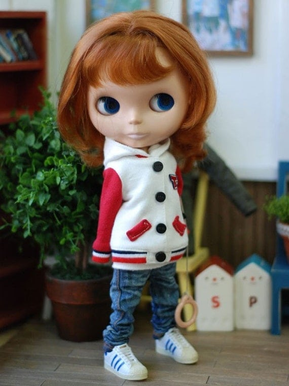 Lovely baseball jumper-Blythe Red