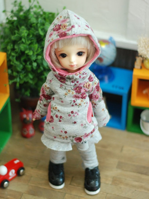 Flower Hooded T (ver2)-Pink