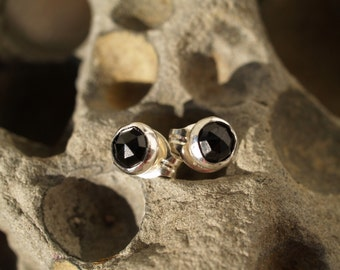 black spinel ear posts