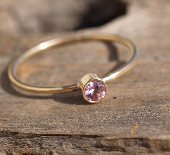 14k gold spinel ring