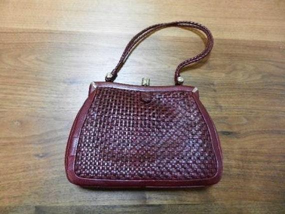 Wine Red Mesh Kimono Handbag