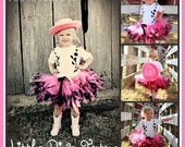 Custom Cowgirl Tutu and Rhinestone Vest T-shirt  Includes FREE Pink Cowgirl Hat