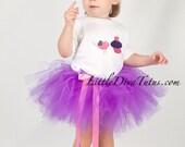Tweet Bird and Cupcake Girls T Shirt, sizes newborn - 6x  You pick your colors