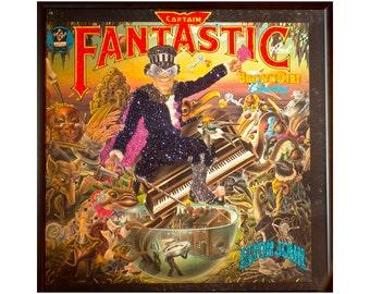 Glittered Elton John Capt Fantastic Album