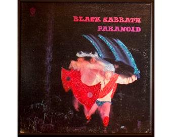 Glittered Black Sabbath Paranoid album