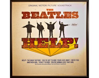 Glittered Beatles HELP Album
