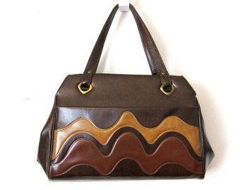 Mod Brown Leather Purse