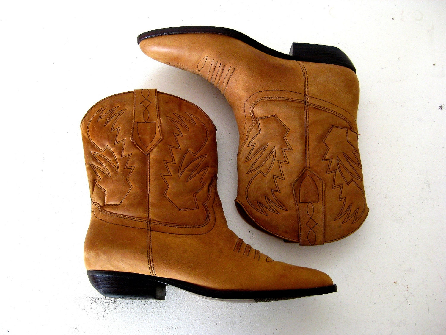 cowboy boots light brown ankle boots almond cognac 7