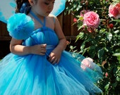 Blue Pixie Fairy Tutu Dress Birthday Dress up Set Infant - 5t