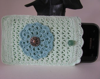 Best Buddy Pouch in Mint Green and Teal / Fully lined