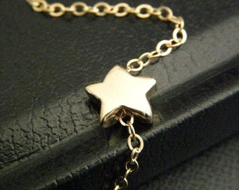 Golden SHOOTING STAR Necklace in 14k Gold Filled Chain