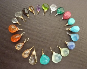 Add a Birthistone or Your Favourite Gemstone to your Necklace or Bracelet