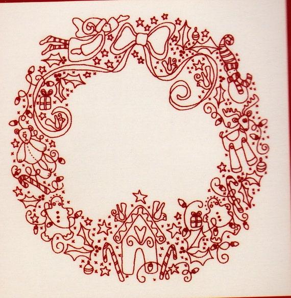Items similar to kit christmas treasures wreath