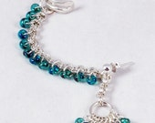 Beaded Chainmaille Ear-Cuff/ Post-Earring Combo