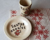 cookies for santa plate  and cup set
