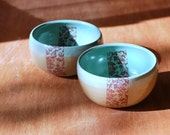 Ceramic bowls DAMASK design - set of two