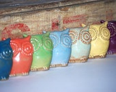 handmade ceramic owl figure - choose your color