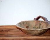 ceramic bowl butterfly and ladybugs