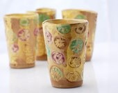 floral tumbler in yellow summer blossom