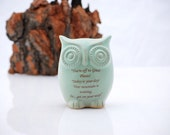 Dr. Seuss  quote  - owl in mint green