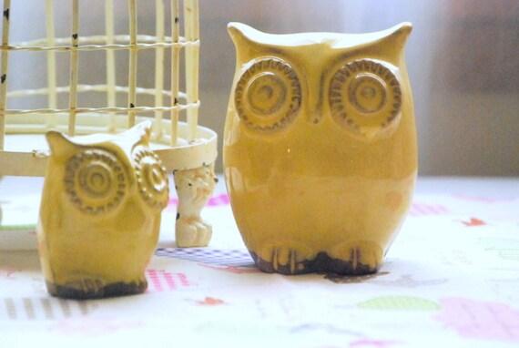 Items Similar To Owl Home Decor In Yellow Spring Decor Owl