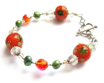Gypsy, Artisan glass bracelet