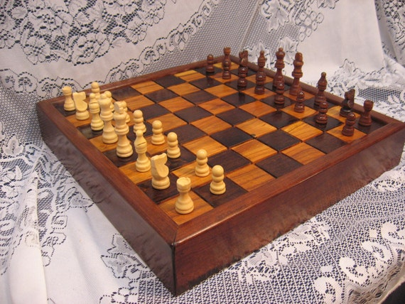 1830's BarnBeam Cherry Chess Set