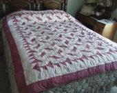 RESERVED for BITFLIPPER: Rosey Posey Quilt