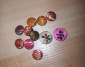 Silk covered Buttons...   Reserved for K.treasures..