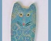 CAT fish BOOKMARK  Blue Fish Silver Pearl