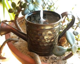 Antiqued Watering Can Gel Candle